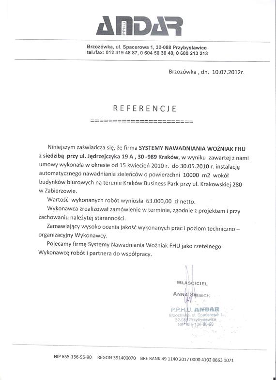 Referencje-Centrum-Biznesu-Zabierzów