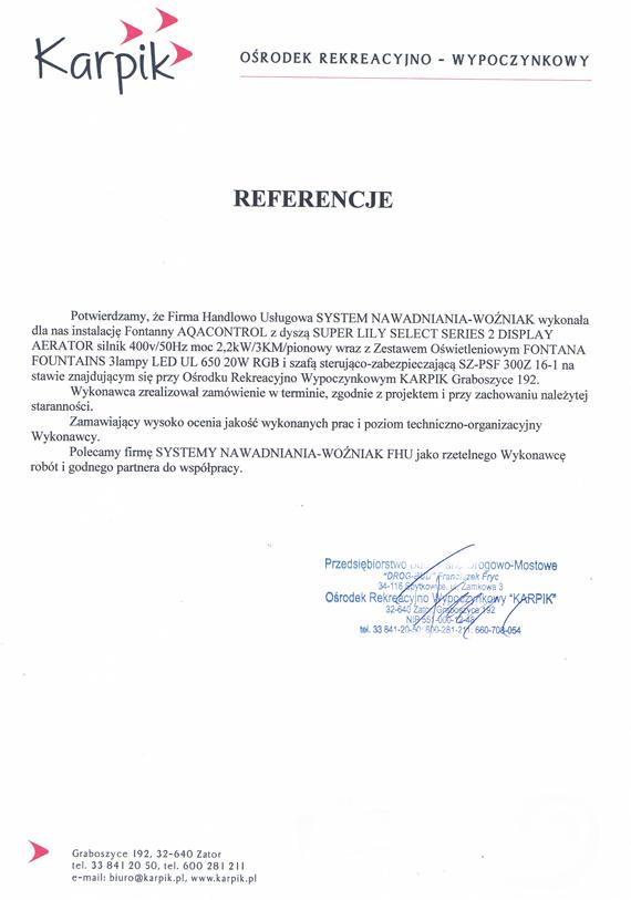 Referencje-Karpik-Graboszyce