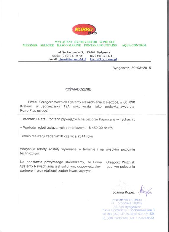 Referencje-Paprocany-Tychy