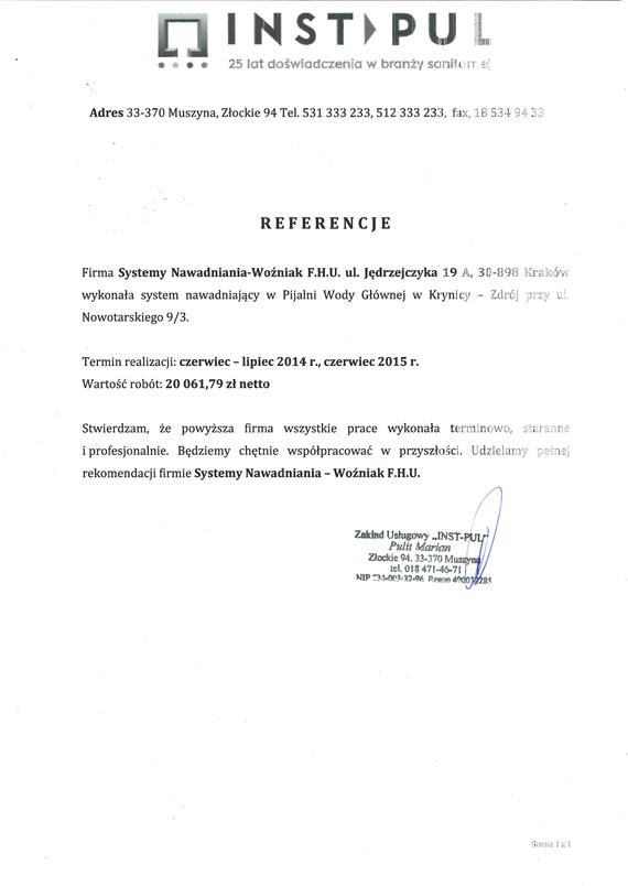 Referencje-Pijalnia-Wody-Krynica