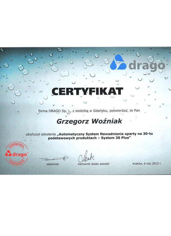 certyfikat-DRAGO-2013